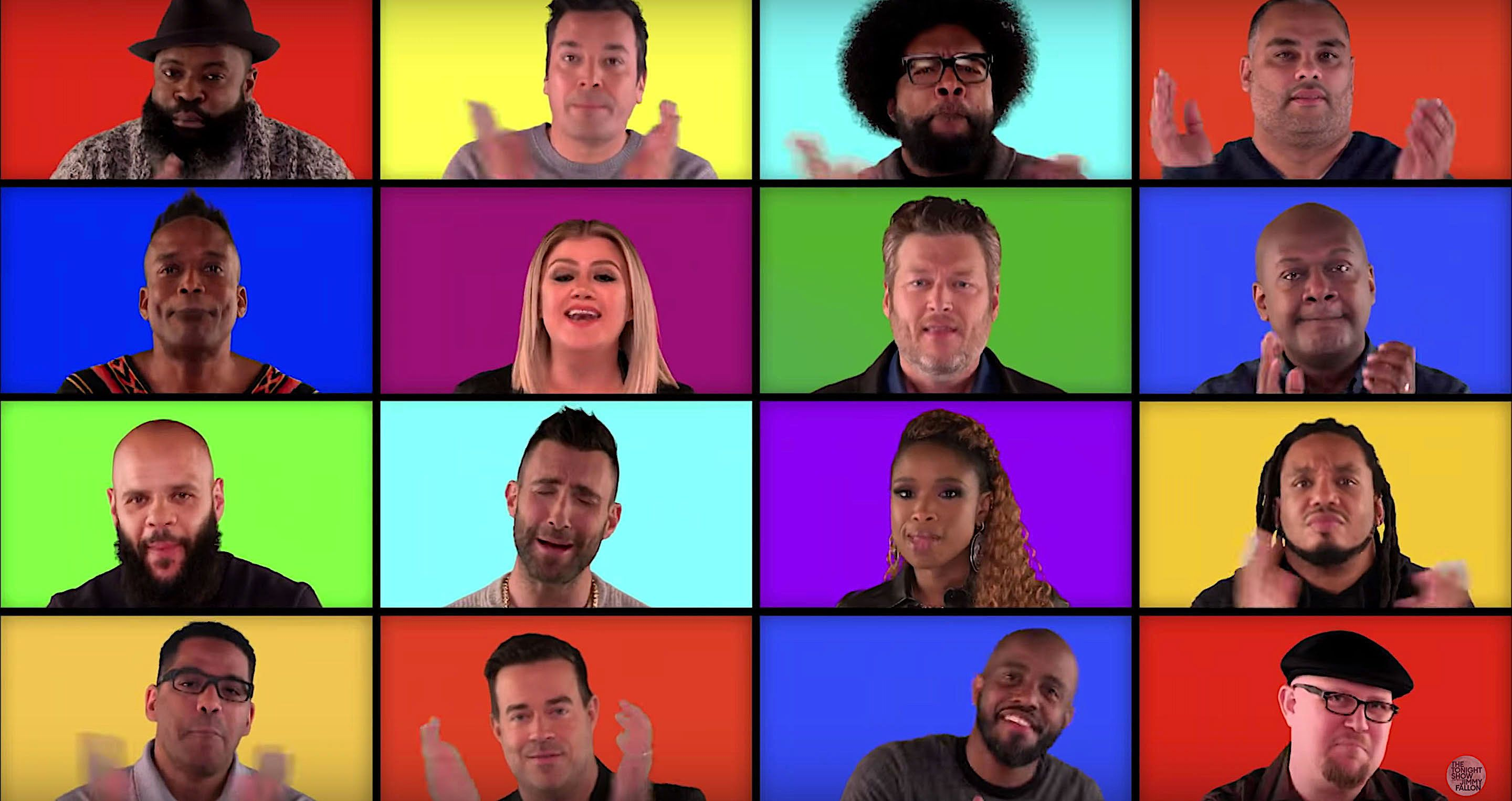 "The coaches from ""The Voice"" and The Roots sing acapella."
