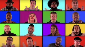 """The coaches from """"The Voice"""" and The Roots sing acapella."""
