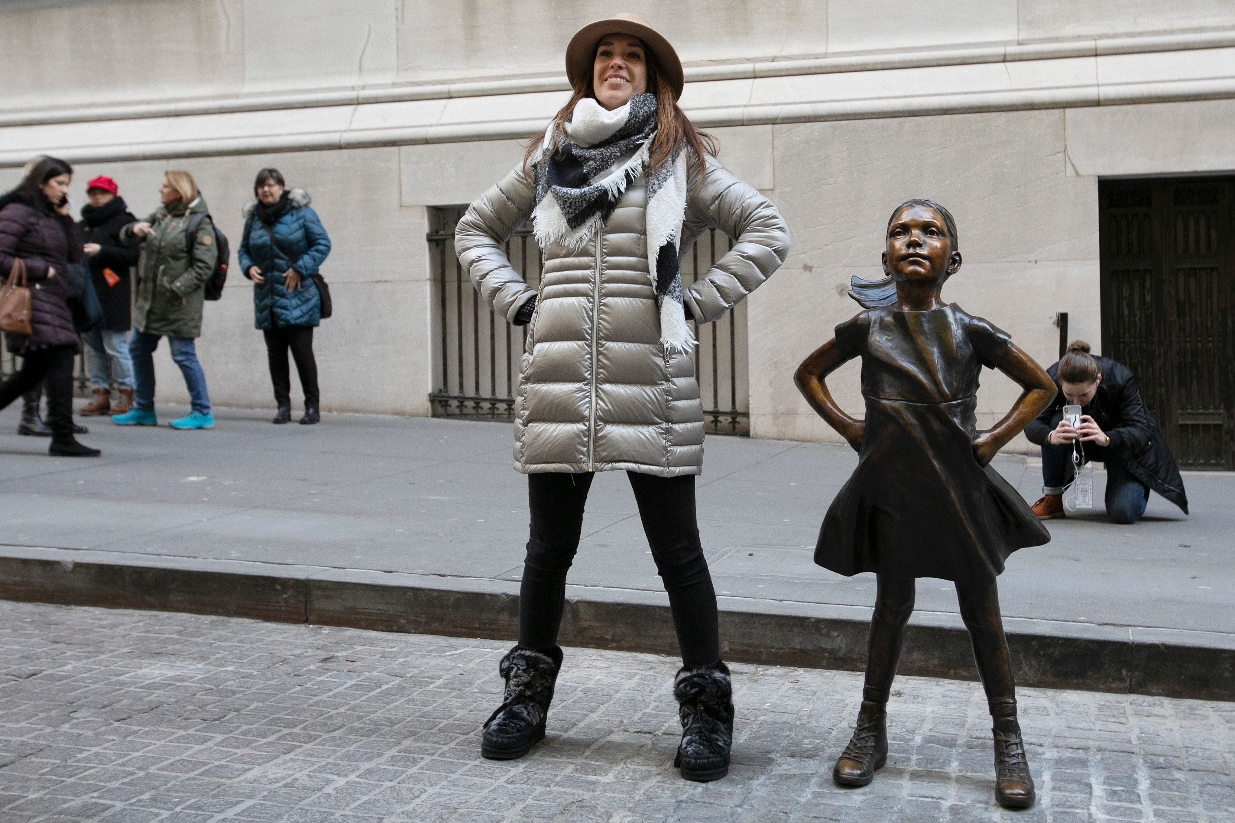 The iconic Fearless Girl statue has a new home at NYSE