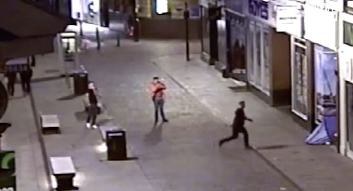Police released CCTV footage of the attack earlier this