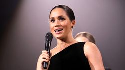 Meghan Markle Wears -- Gasp! -- Dark Nail Polish At Fashion