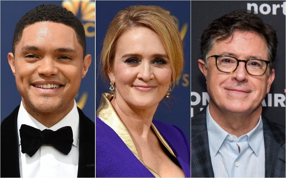 Trevor Noah, Samantha Bee, Stephen Colbert