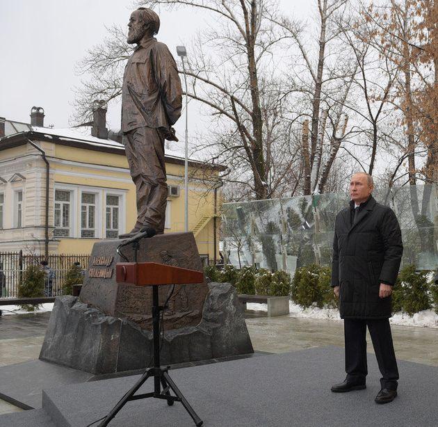 Un monument à Soljenitsyne inauguré à Moscou le jour de son