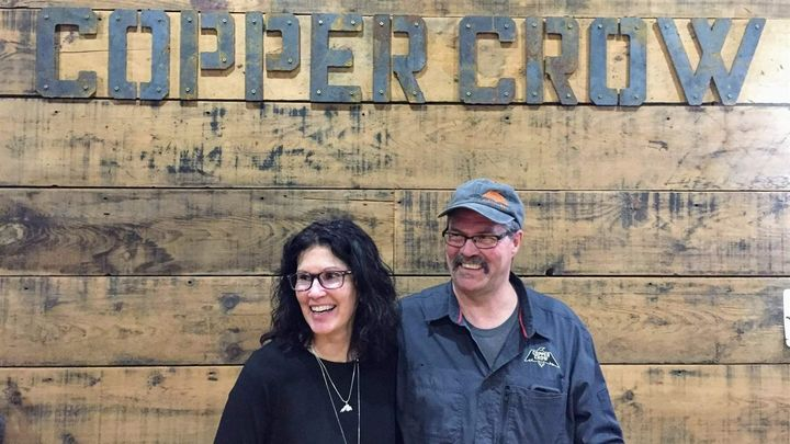 Linda and Curt Basina opened the Copper Crow Distillery on the Red Cliff Reservation in Wisconsin this year, serving vodka an