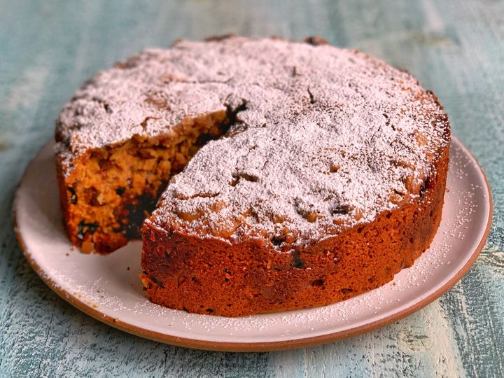 This fruitcake is super moist with a crumb that's way more tender than your average version.