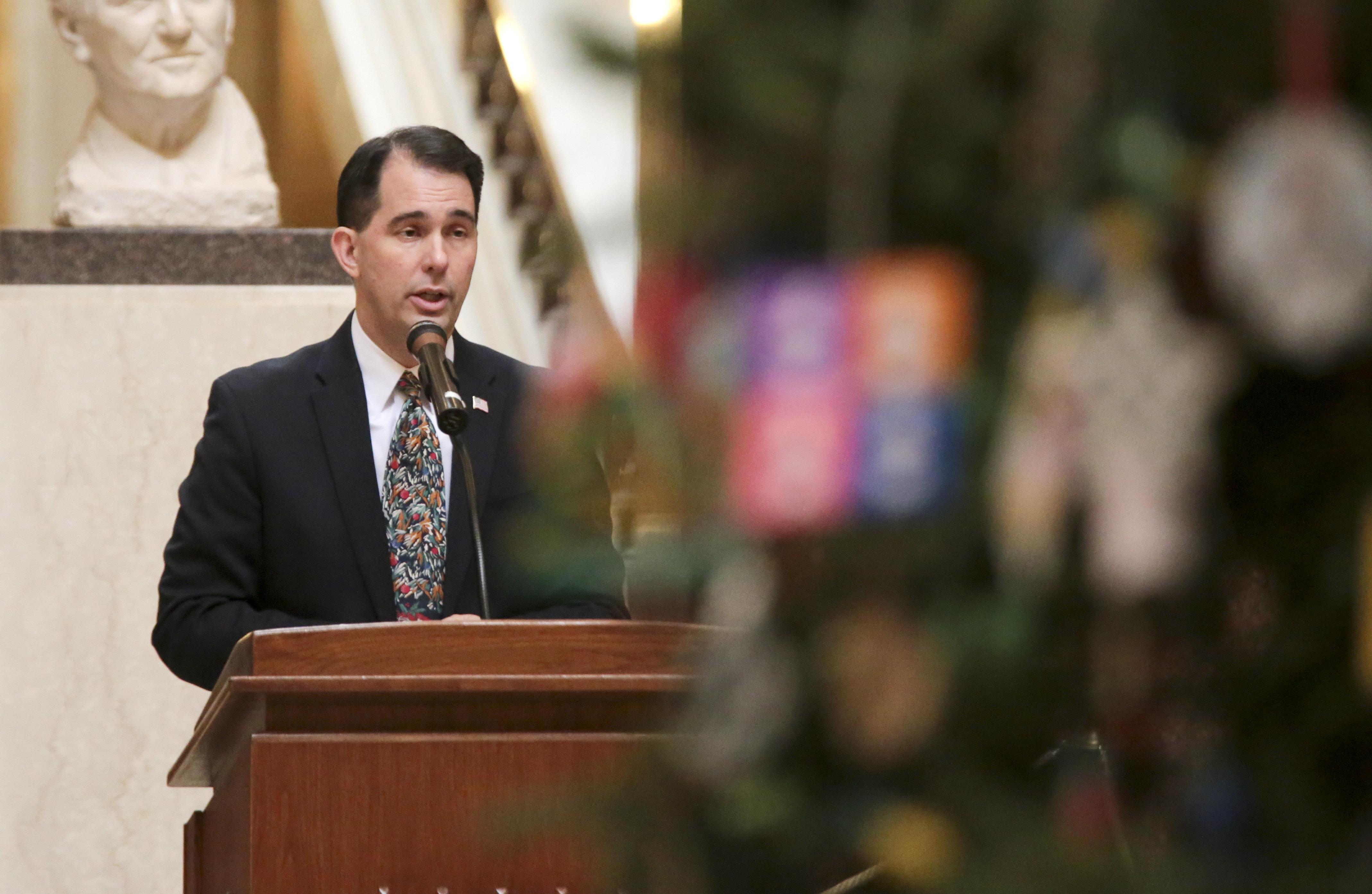 Scott Walker Indicates He'll Sign GOP Power Grab Bills