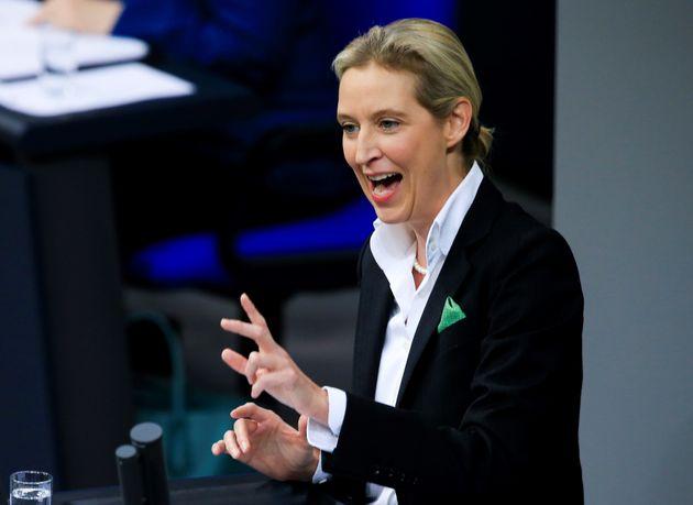 Alice Weidel, co-líder del partido de extrema derecha Alternativa para Alemania