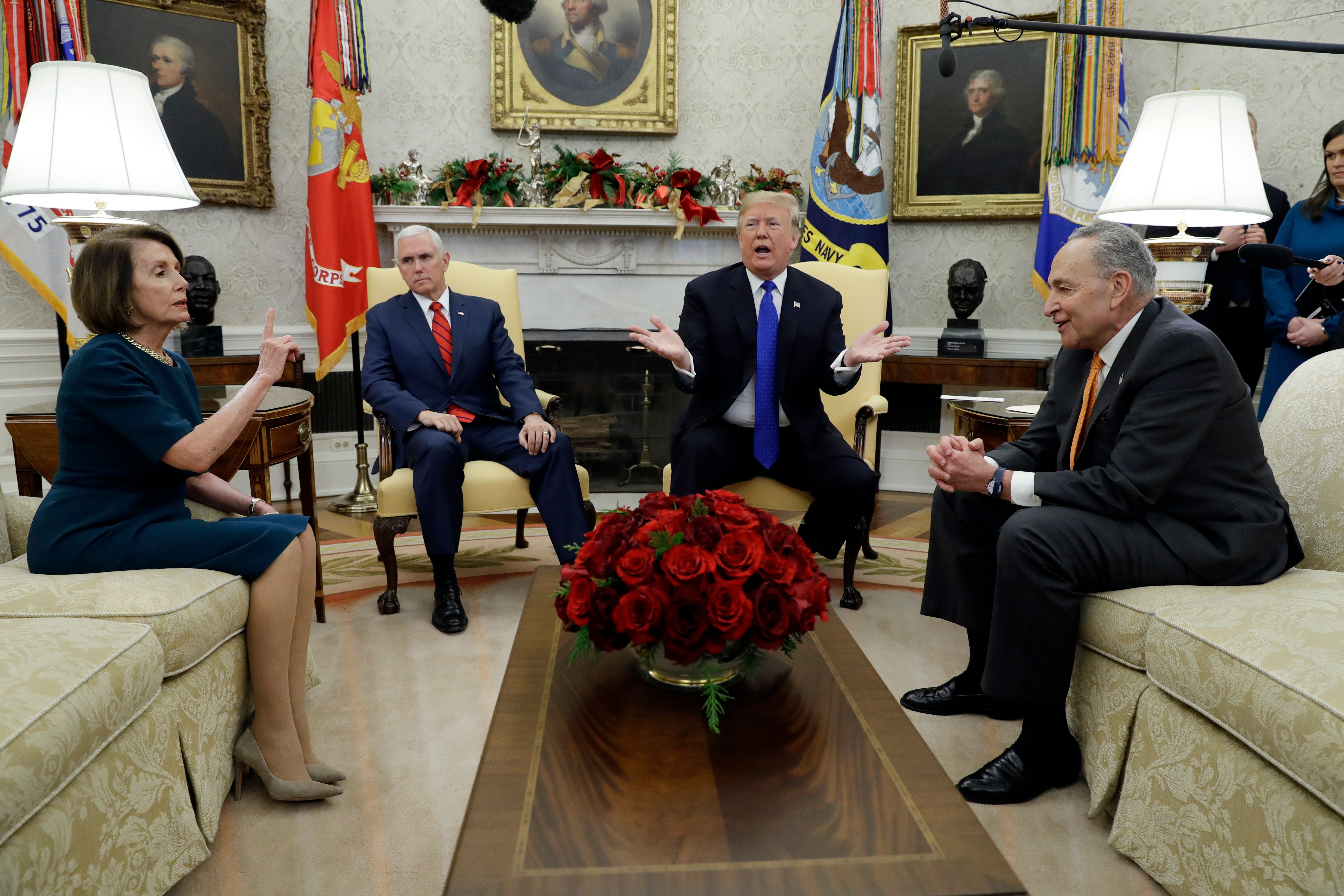 Trump Battles With Nancy Pelosi And Chuck Schumer Over Border Wall Funding