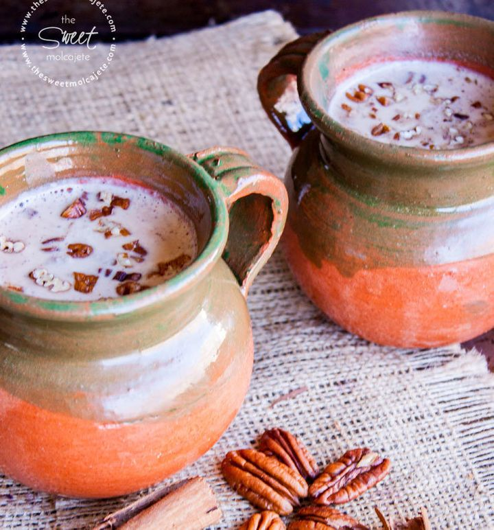 Atole is a warm drink made with ground corn and water or hot milk.