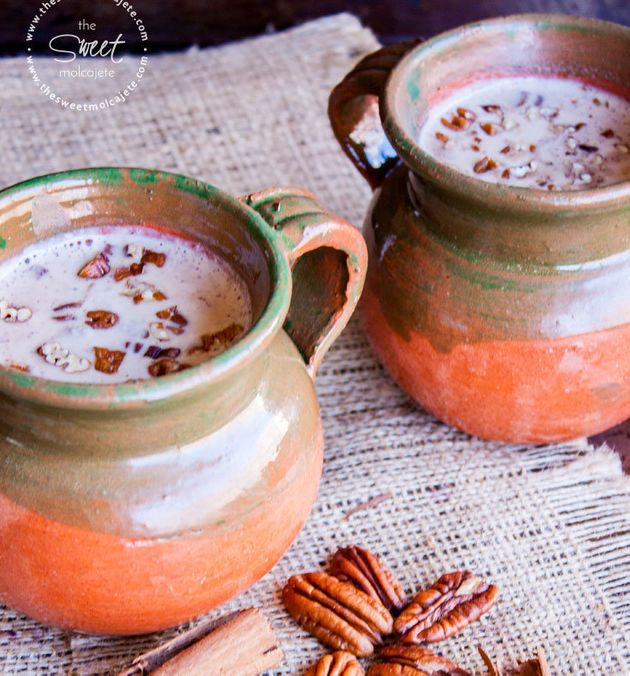 Atole is a warm drink made with ground corn and water or hot