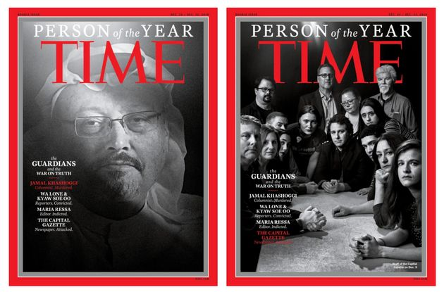 Time Magazine Honouring Journalists For 2018's Person Of The Year Sends A Stark Message Of Defiance To...