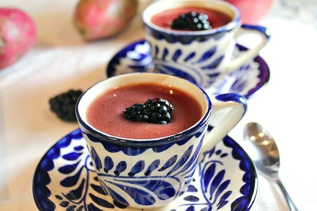 Blackberry atole from the food blog Mexico In My