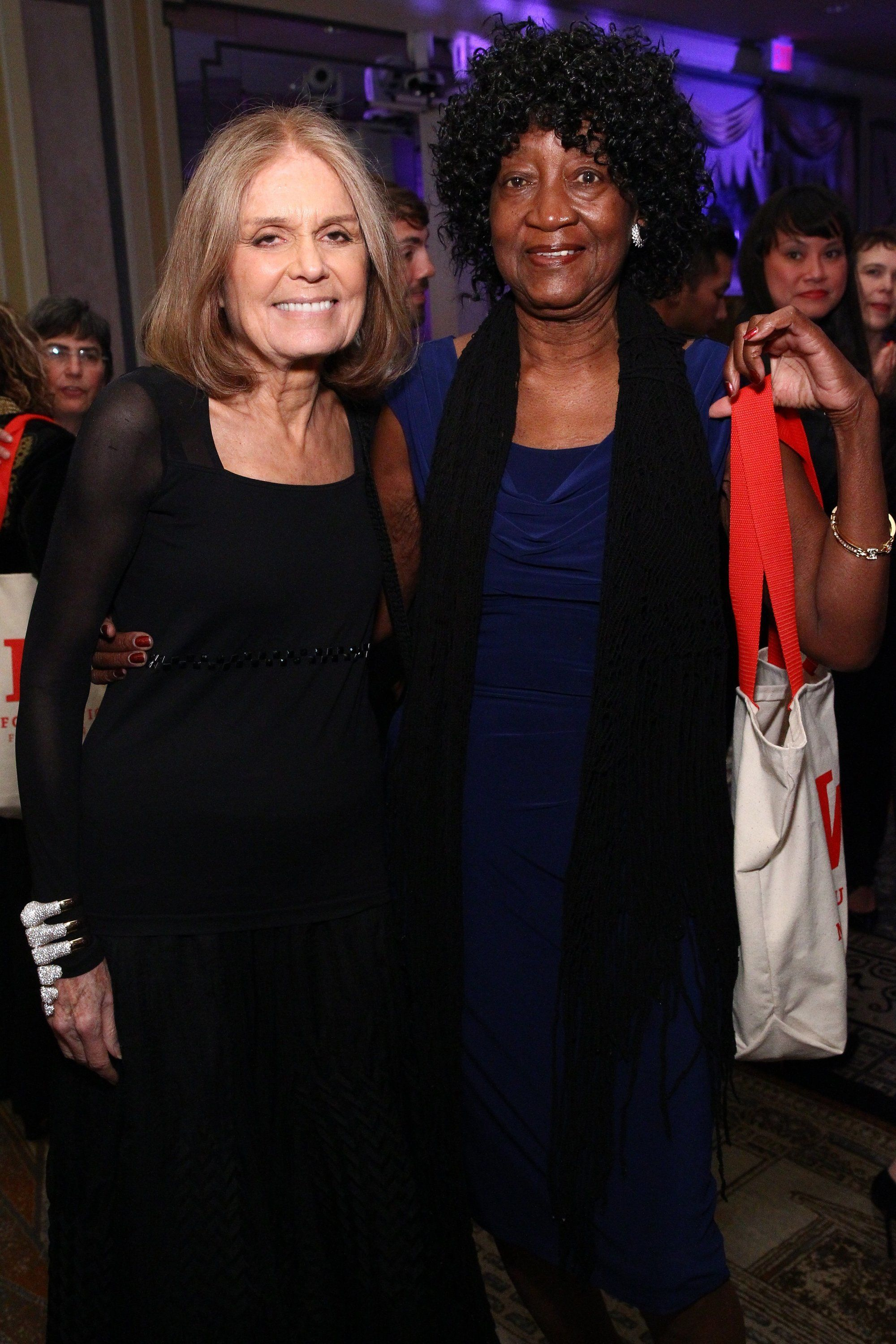 Gloria Steinem and Dorothy Pitman Hughes attend the Ms. Foundation For Women 2016 Gloria Awards Gala on April 27, 2016, in New York City.