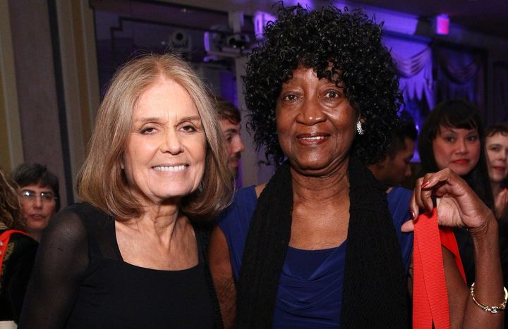 Gloria Steinem and Dorothy Pitman Hughes attend the Ms. Foundation For Women 2016 Gloria Awards Gala on April 27, 2016, in Ne