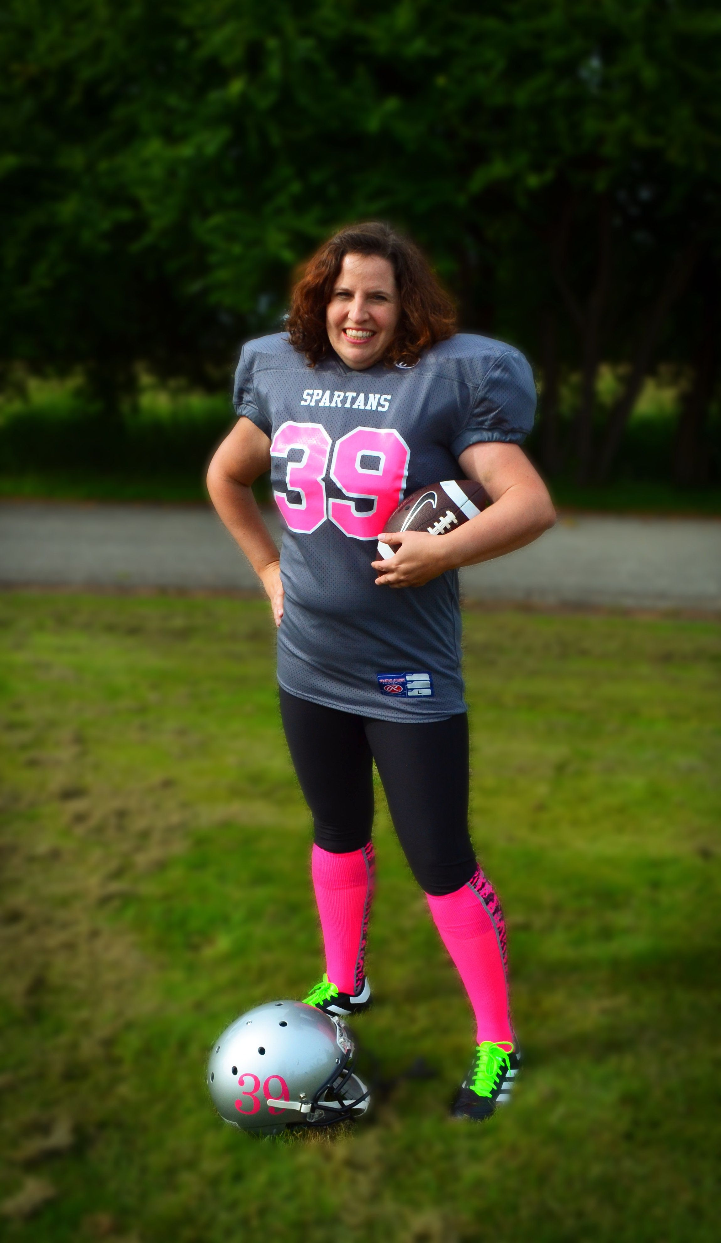"""My """"official"""" football photo. I chose number 39 for obvious reasons."""