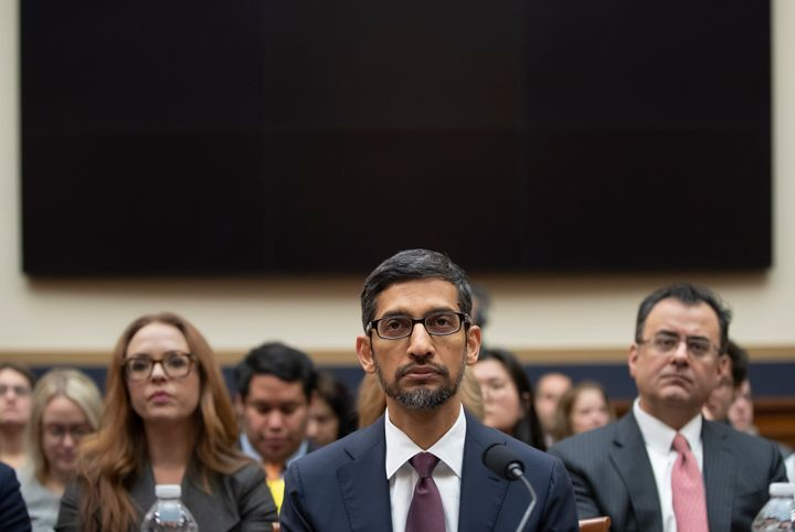 Google CEO Sundar Pichai testifies before the House Judiciary Committee on Dec. 11.