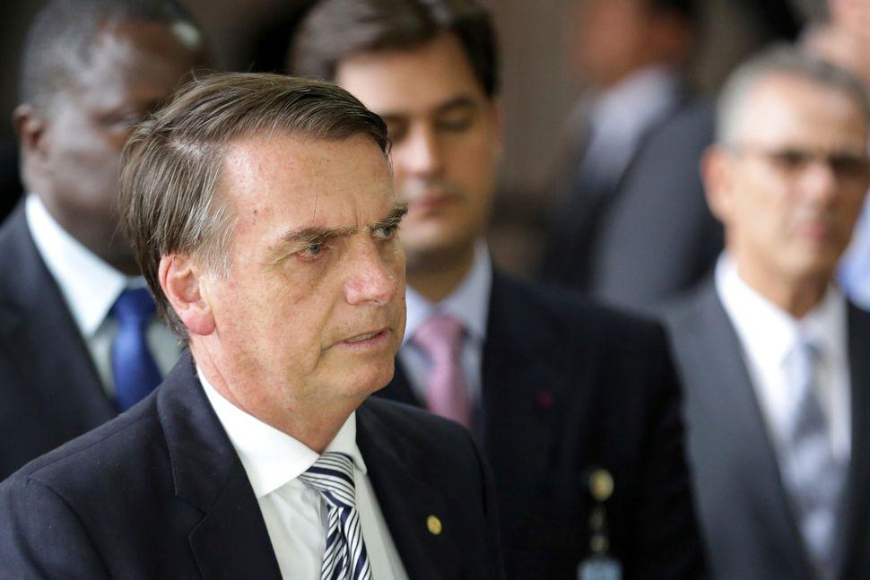 Brazilian President-elect Jair Bosonaro will take office on Jan. 1, 2019.