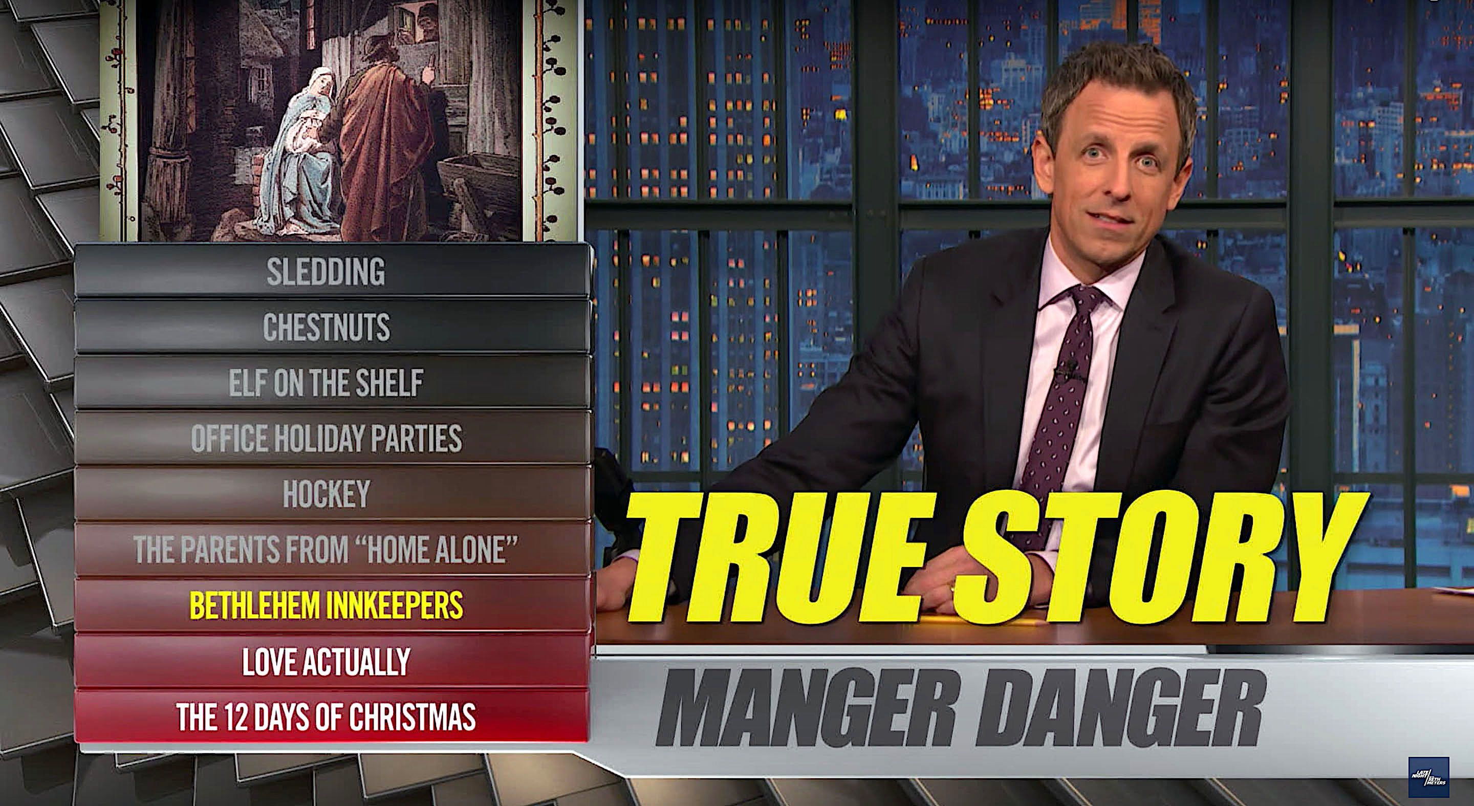 Seth Meyers and a holiday Ya Burnt