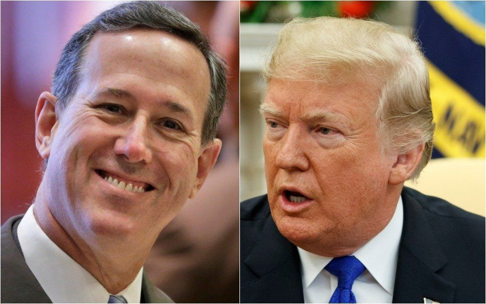 Rick Santorum and Donald Trump