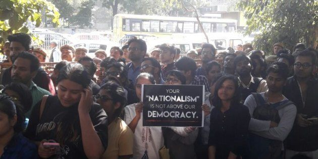Demand For Freedom, Justice And An FIR: Scenes From The Delhi University Protest At Police