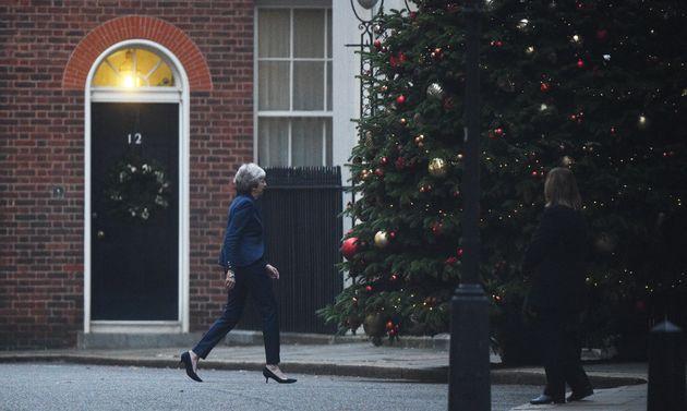 Keine schönen Weihnachten: Die britische Premierministerin Theresa May könnte am Mittwoch ihr Amt verlieren.