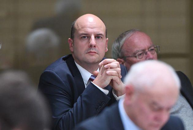 Der AfD-Abgeordnete Stefan Räpple im Baden-Württembergischen Landtag.