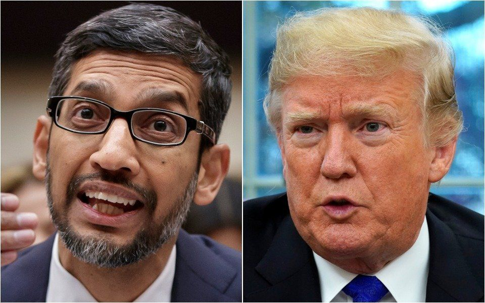 Google CEO Had To Explain To Congress Why Googling 'Idiot' Shows Trump