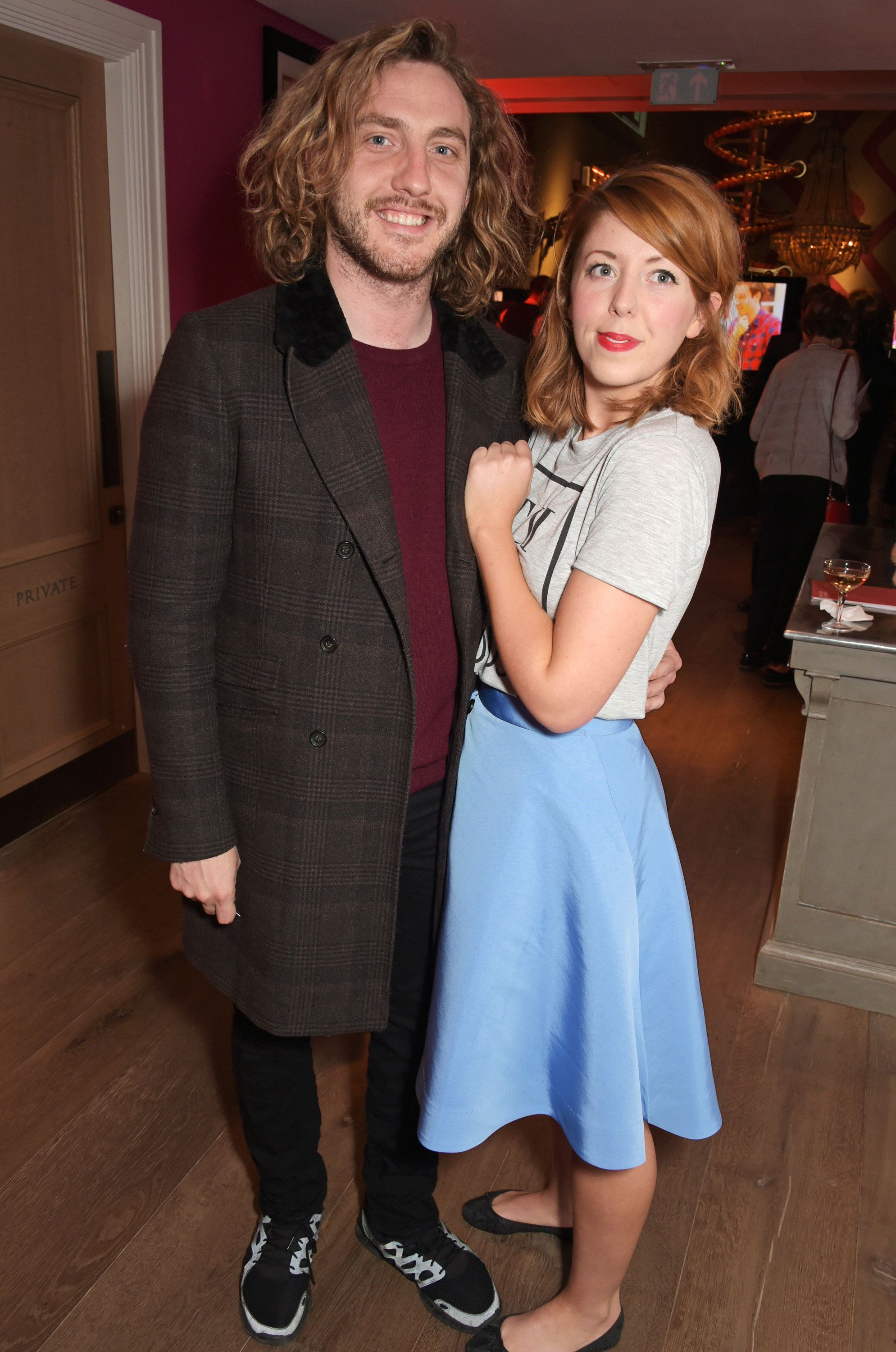 Seann and Rebecca at an event in