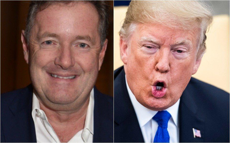 Piers Morgan and Donald Trump