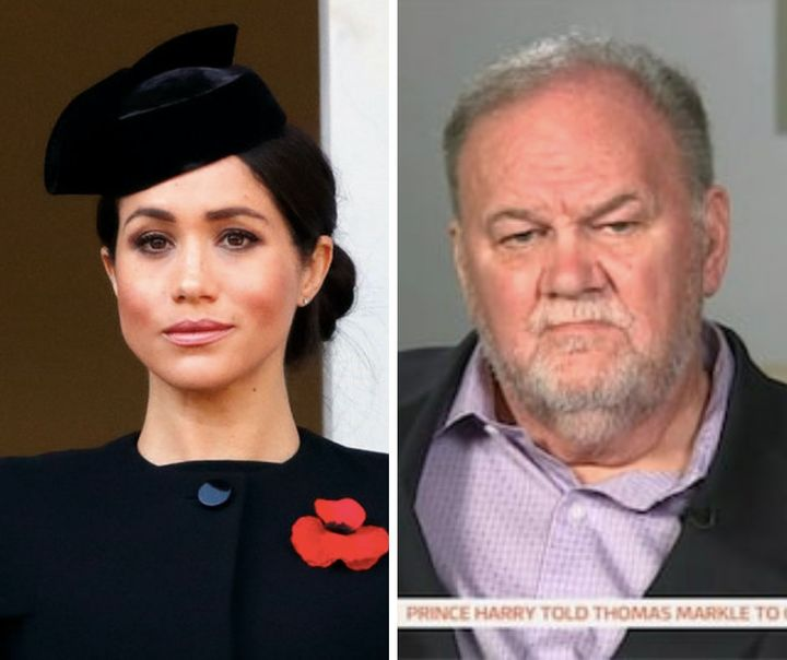 Meghan Markle and her father, Thomas, who lives in Mexico.