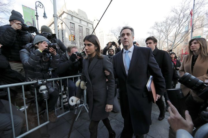 Michael Cohen, President Donald Trump's former attorney, arrives for his sentencing in the Manhattan borough of New York City
