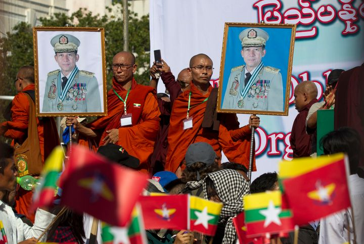 Buddhism and the military are Myanmar's two biggest institutions. Both are male dominated.