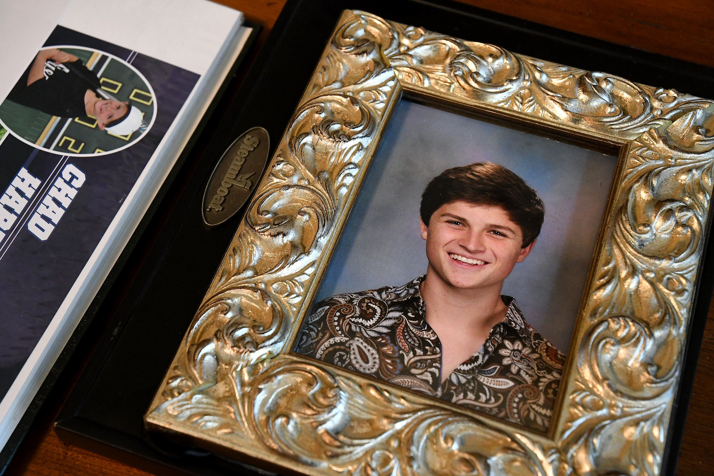 The Harrells created a foundation called Keep the Spark Alive after losing their 17-year-old son, Chad (pictured), to suicide