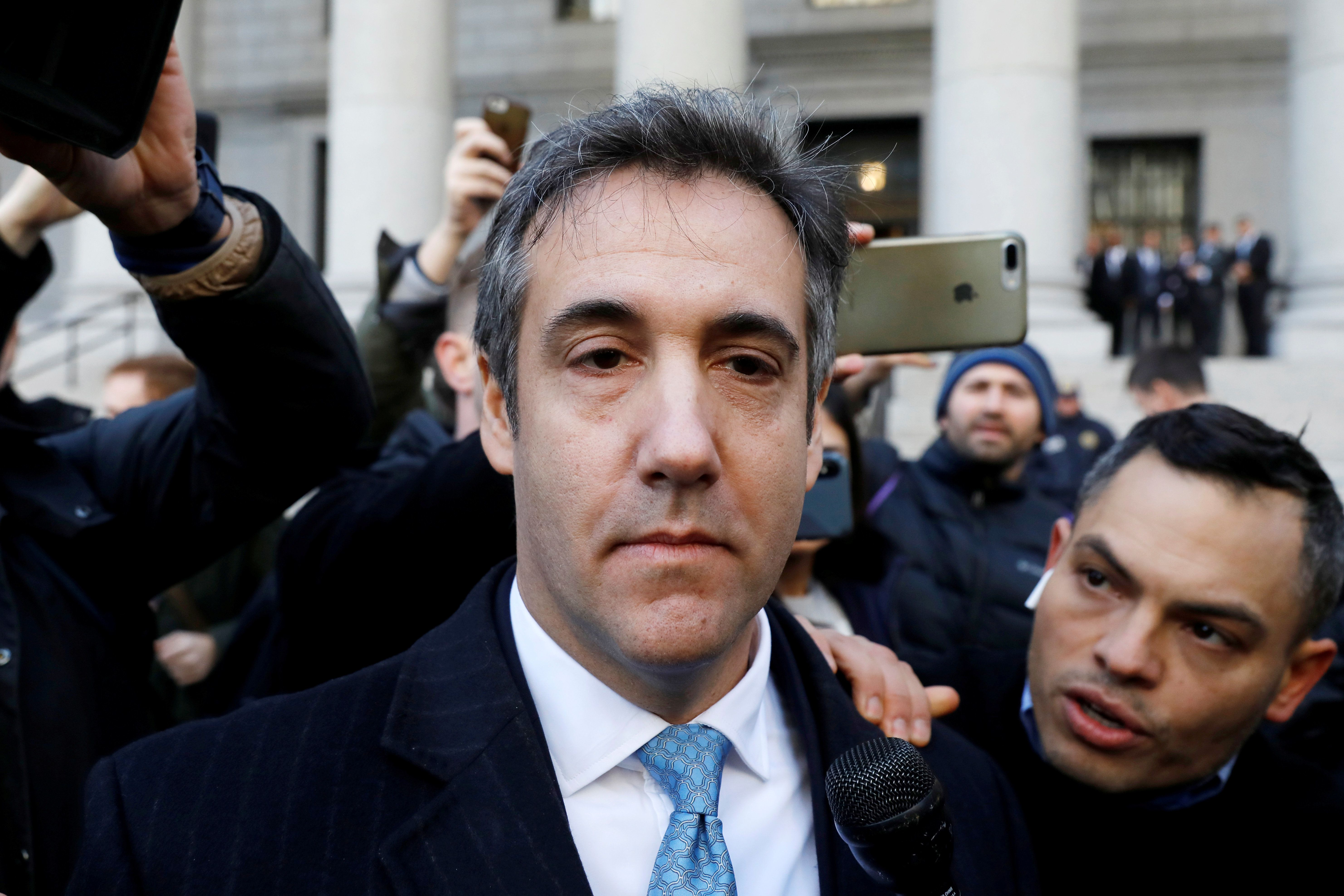 Michael Cohen outside court in New