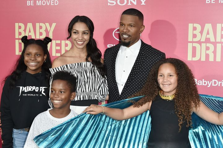Fox hit the red carpet with his daughters and guests in 2017.