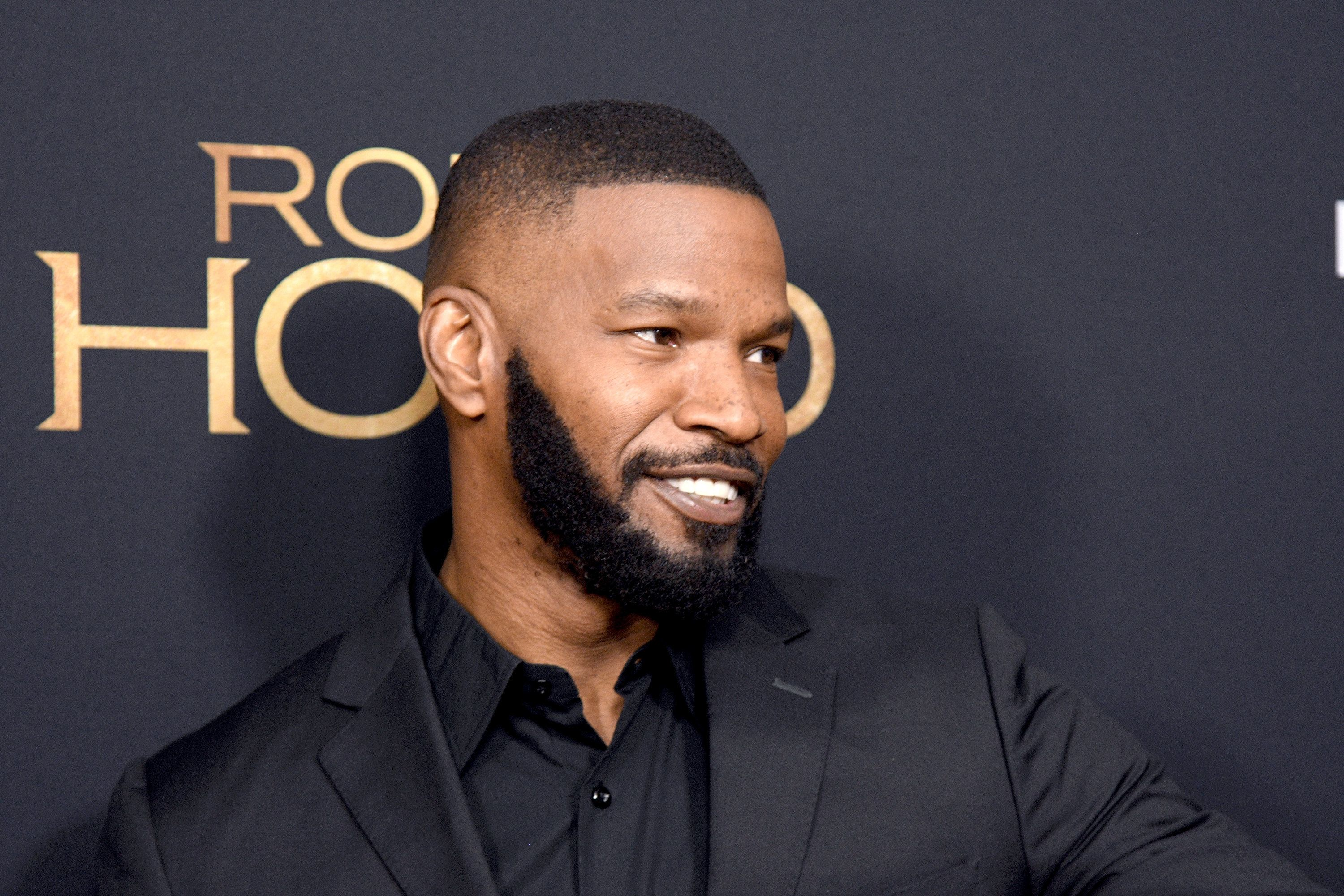 NEW YORK, NY - NOVEMBER 11:  Jamie Foxx attends the 'Robin Hood' New York screening at AMC Lincoln Square Theater on November 11, 2018 in New York City.  (Photo by Gary Gershoff/WireImage)