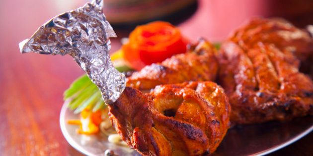 India, Spicy grilled chicken legs,