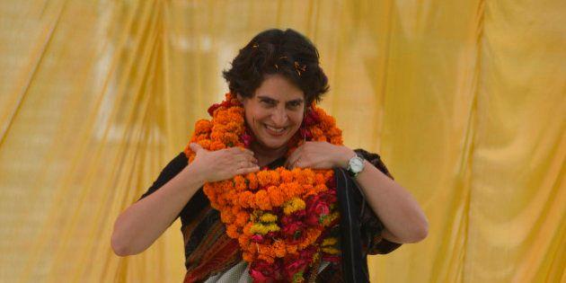RAE BARELI, INDIA APRIL 22: Priyanka Gandhi Vadra campaigned for her mother Sonia Gandhi in Rae Bareli...