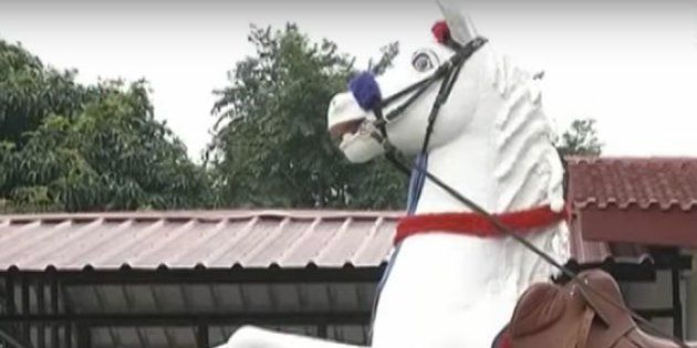 Police Horse Shaktiman's Statue Removed Today, Exactly Four Days After It Was
