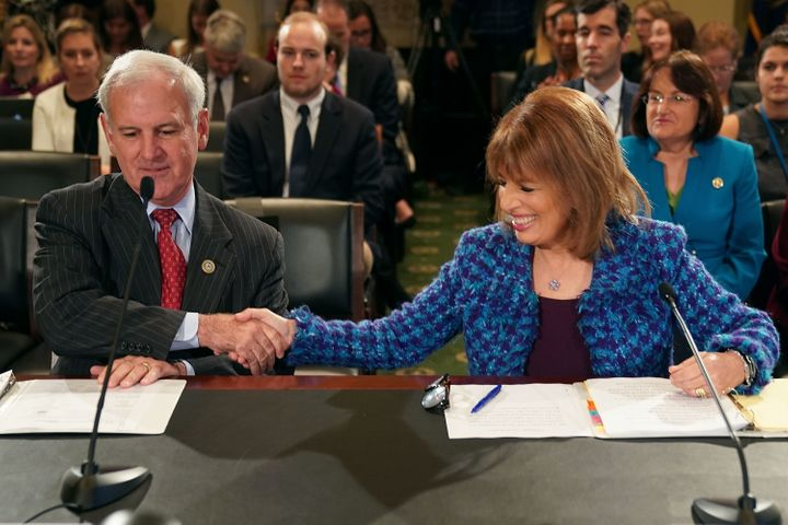 Reps. Jackie Speier (D-Calif.) and Bradley Bryne (R-Ala.) teamed up to pass a House bill in early 2018 imposing tougher penalties on lawmakers who sexually harass their staff. At last, most of that bill is about to become law.