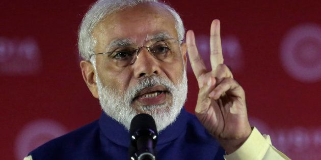 India's Prime Minister Narendra Modi speaks at the U.S.-India Business Council (USIBC) 41st annual Leadership...