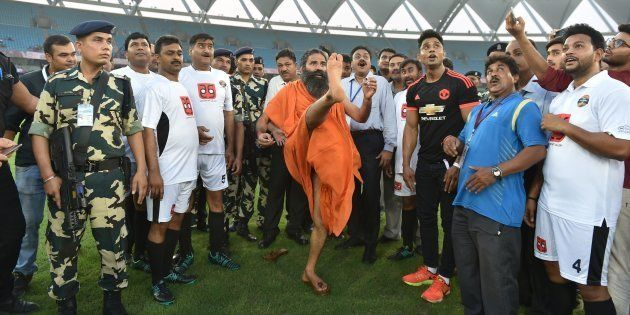 WATCH: How Yoga Guru Baba Ramdev Pulled Off A Beckham In