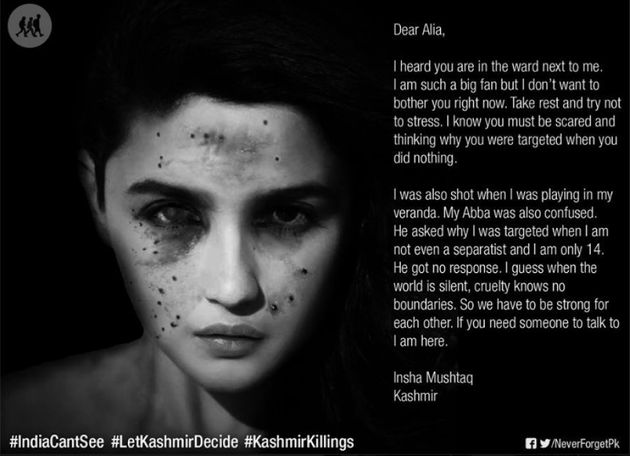 Morphed Celebrity Faces With Pellet Wounds Highlight Kashmiri
