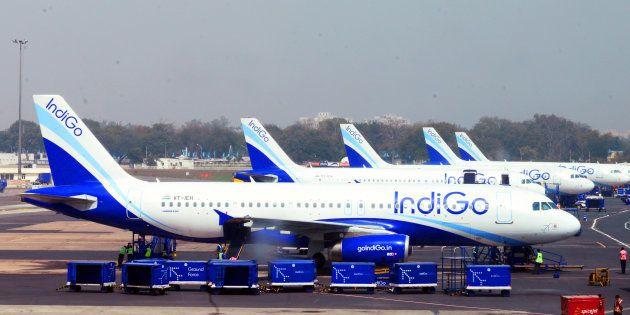 Indigo aircrafts at Indira Gandhi International