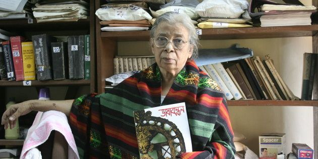 Mahasweta Devi in Kolkata, 2008. (Photo by Suvashis Mullick/The India Today Group/Getty