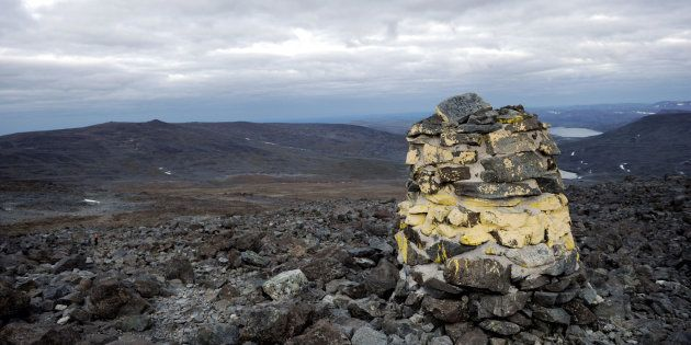 File photo of the Halti mountain on the Finnish and Norwegian