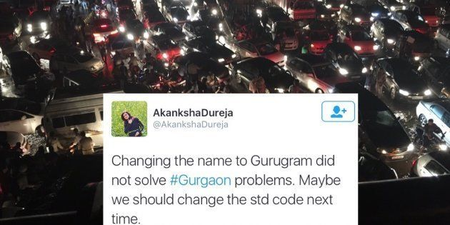 A Monster 6-Hour Traffic Jam During Rains Brought Gurugram To Its Knees Last