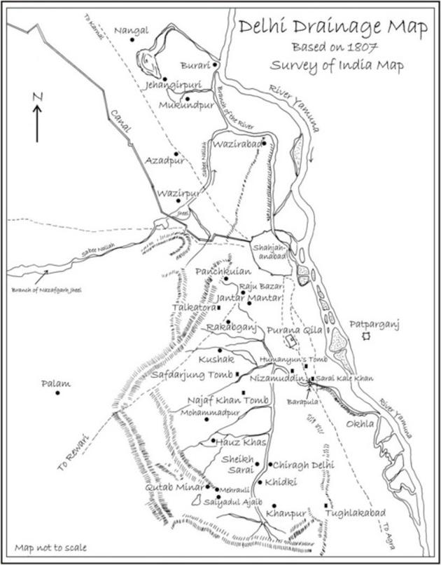 Drainage pattern of