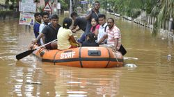 Ten Thousand People Rescued From Flood-Hit Areas In Assam,