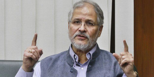 Lieutenant Governor of Delhi Najeeb Jung at Raj Niwas, New Delhi, in 2015. (Photo by Sanjeev Verma/Hindustan...